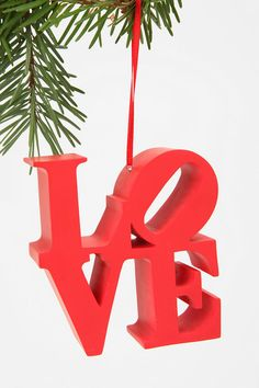 Love Ornament $11.00 - One of my favorite parts of the city! @lyndsay overton christmas!