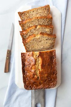 It doesn't get much better than this easy banana bread recipe! It's made in just one bowl with extra ripe bananas for optimal flavor. You can enjoy it plain or with your favorite mix-ins! Banana Bread Recipe With Pancake Mix, Bob Evans Banana Bread Recipe, Ripe Banana Recipe, Breakfast Bread Recipes, Make Banana Bread, Easy Bread Recipes, Banana Recipes, Gourmet Recipes, Sweet Recipes