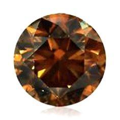 0.74 Carat Fancy Brown Loose Diamond Natural Color Round Cut