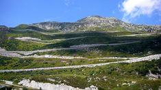 GRIMSEL PASS between Innertkirchen and Gletsch, Switzerland;  its highest elevation is 7,008 feet above sea level