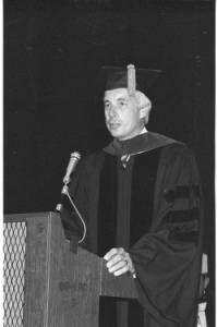 J. Warren McClure speaks at Ohio University commencement, 1975 :: Ohio University Archives