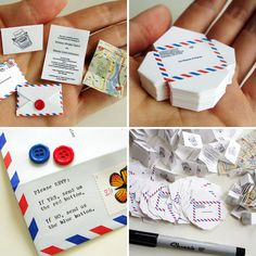 Tiny Airmail Wedding Invitations | 25 Creative Invitations