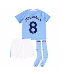 Manchester City Ilkay Gundogan 8 Dětské Domácí Dres 17-18 Krátký Rukáv Manchester City, Sports, Tops, Hs Sports, Sport
