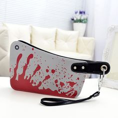 Fashion Women's Handbags Cleaver Clutch Bags Blood Choppers Purse Handbag Creative Phone Package Women Leather Bag women's purse