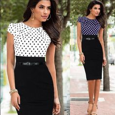 SUMMER Sexy Womens Cap Sleeve Bodycon Gowns Dress Office Work Pencil Dress PARTY