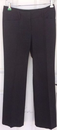 Michael Kors Women's Size 2 Pinstripe Black Slacks Gramercy Fit #MichaelKors #DressPants