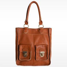 leather tote. perfect for school and travel