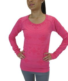 Look what I found on #zulily! Pink Raspberry Fair Isle Scoop Neck Top by Colosseum #zulilyfinds