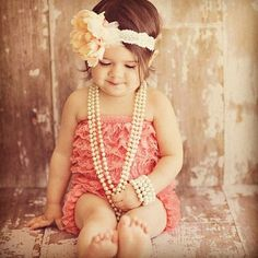 adorable.  I want little lace outfits like this for a photo shoot with all 3 girls!