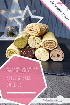 Slice and bake cookies - 7 flavors with hidden nutrients - - One basic dough, many variations - and you can prepare everything weeks in advance! The recipe can also easily be doubled or quadrupled. Tastemade Dessert, Soft Sugar Cookies, Sugar Cookies Recipe, No Bake Cookies, Holiday Baking, Christmas Baking, Christmas Hacks, Simple Christmas, Christmas Holiday