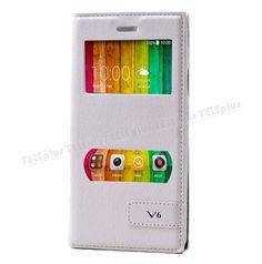 Casper VIA V6 Çift Pencereli Mıknatıslı Kılıf Beyaz -  - Price : TL31.90. Buy now at http://www.teleplus.com.tr/index.php/casper-via-v6-cift-pencereli-miknatisli-kilif-beyaz.html