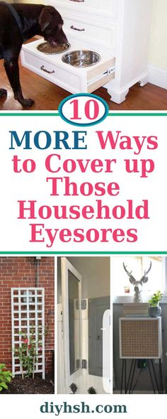 10 MORE Ways to Cover up Those Household Eyesores | DIY Home Sweet Home