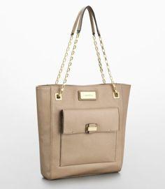 Calvin Klein Maria Gusset Magazine Tote Handbag Bare Style 36051939 - [List Price: $149.50 - Buy Now:$119.00 + $6.49 shipping  - Limited Stock] #Handbag