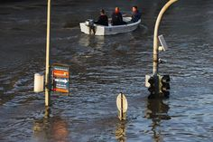 ople ride in a boat on waters covering a flooded road in the eastern German city of Dresden, June 4, 2013. Torrential rain in the south and south-east of Germany caused heavy flooding over the weekend forcing people to evacuate their homes. REUTERS/Thomas Peter