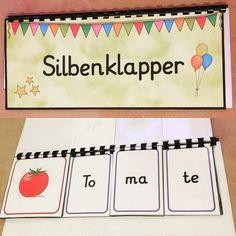 Ein Silbenklapper für die ersten fleißigen Leser bei den #ersteklasse2017 #deutschunterricht #anfangsunterricht #ersteslesen #silbenlesen…