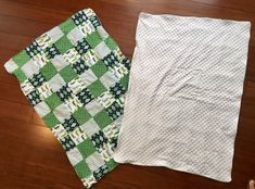 """Minky and flannel soft fabric blanket 36"""" x 44"""" green patterns or pink patterns / bith white backing by GeeGeeGoGo on Etsy https://www.etsy.com/listing/535027872/minky-and-flannel-soft-fabric-blanket-36"""