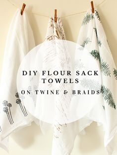 DIY Flour Sack Towels // Tea Towels // Dish Towels // Stamps and Stencils by Twine & Braids
