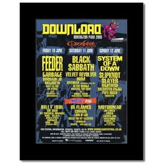 DOWNLOAD FESTIVAL - 2005 - System of a Down Feeder Matted Mini Poster - 28.5x21cm: Amazon.co.uk: Kitchen & Home