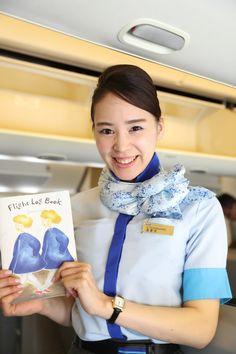 【Japan】 All Nippon Airways cabin crew / 全日本空輸 客室乗務員 【日本】 Cabin Crew, Flight Attendant, Japan, Beautiful, Beauty, Silk Scarves, Aviation, Pretty Girls, Beauty Illustration