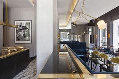 T'a Milan | Hospitality Design. Restaurant Design. Restaurant Furniture. #restaurantdesign #hospitality #restaurantinteriordesign See more inspirations at: https://www.brabbu.com/en/inspiration-and-ideas/category/world-travel/hotel