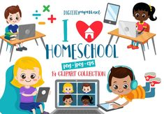 Homeschool Clipart Homeschooling Clipart Back to School | Etsy Under The Sea Clipart, Bear Clipart, Cute Dragons, Under The Sea Party, Finding Yourself, Make It Yourself, Eps Vector, Textured Background, Graphic Illustration