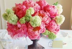 Peonies and Hydrangeas - so pretty!