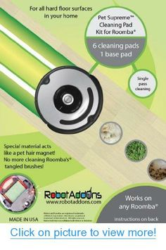 Robot Add Ons Hard Floor Cleaning Pad Kit, Pet Supreme