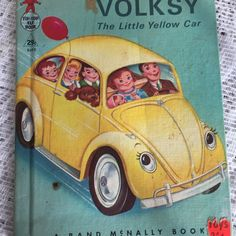 Volksy the little yellow car a vintage children's book