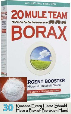Save on Detergent Booster & Multi-Purpose Household Cleaner by 20 Mule Team Borax and other Laundry Detergent at Lucky Vitamin. Shop online for Natural Home, 20 Mule Team Borax items, health and wellness products at discount prices. House Cleaning Tips, Deep Cleaning, Cleaning Checklist, Borax Laundry, Laundry Detergent, Laundry Room, Borax Uses, Uses For Borax Powder, Hard Water Stains