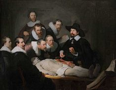Rembrandt, The Anatomy Lesson of Dr. Nicolaes Tulp, 1632 | The Ultimate Guide To Oil Painting For Beginners | Want to learn oil painting? I have compiled this guide to help you on your journey. Mastering oil painting is a long and amazing journey. Enjoy the guide and feel free to let me know if you need help with your oil painting. #oilpainting
