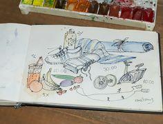 Sport und Diät. Illustration von www.rauschsinnig.de #illustration #watercolour #aquarellzeichnjng