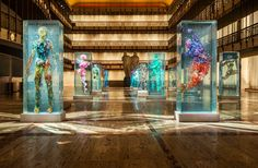 Art - New York City Ballet Installation by Dustin Yellin glass sculptures part of the psychogeographies project