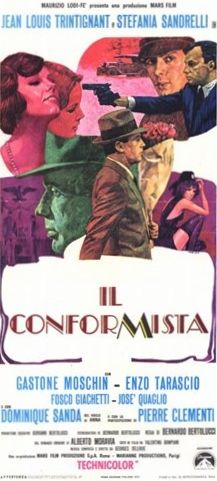 The Conformist (Il Conformista). Italy, France, West Germany. Jean-Louis Trintignant, Stefania Sandrelli, Dominique Sanda, Enzo Tarascio, Gastone Moschin. Directed by Bernardo Bertolucci. 1970