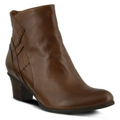 Spring Step Women's Gaspar Leather Round Toe Pull Up Ankle Boots Brown Brown Leather Ankle Boots, Brown Boots, Wide Calf Boots, Knee Boots, Women's Boots, Comfortable Dress Shoes, Spring Step, Retro Shoes, Kid Shoes
