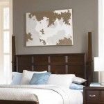 Found it at Wayfair - East Lake 2 Poster Headboard Broyhill Furniture, Brown Furniture, Cherry Furniture, Queen Headboard, Grey Walls, Accent Walls, Bedroom Bed, Master Bedroom, High Quality Furniture