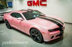 pink camero   Al Ghandi Customs show off a sexy pink Camaro!