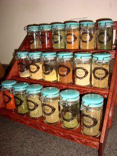 DIY Transparent Glass Jar Labels | Dinner of Herbs - spice jars, spice rack!