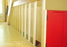 How to stylishly babyproof stair railings using plexiglass | TheMombot.com