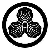 Kamon- Japanese Mon Tie Tack Five Three Paulownia in a circle Japanese clan crest