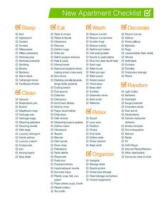 The Ultimate First Apartment Checklist | Apartment checklist ...
