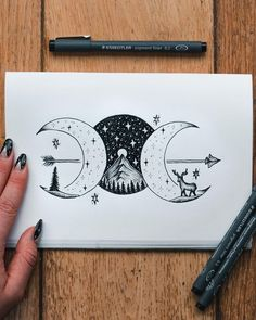created by the artist Jill Ilsay (jill_islay) from Scotland. Art created by the artist Jill Ilsay (jill_islay) from Scotland. Art created by the artist Jill Ilsay (jill_islay) from Scotland. Pencil Art Drawings, Cool Art Drawings, Doodle Drawings, Art Drawings Sketches, Tattoo Drawings, Drawing Drawing, Drawing Tips, Tattoo Sketches, Space Drawings
