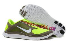 $48.14 Womens #Nike #Free 4.0 V3 Olive Khaki White Volt Shoes       #Volt  #Womens #Sneakers