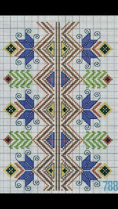 ru / Фото - Greek embroidery from Dora - sashapet Dmc Cross Stitch, Cross Stitch Borders, Cross Stitch Flowers, Cross Stitch Designs, Cross Stitch Patterns, Swedish Embroidery, Folk Embroidery, Cross Stitch Embroidery, Embroidery Designs