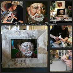 Our Willie Nelson mosaic. Husband and wife collaboration here at Obsessive Creative Disorder :) Willie Nelson, Mosaics, Four Square, Collaboration, Husband, Creative, Home Decor, Decoration Home, Room Decor