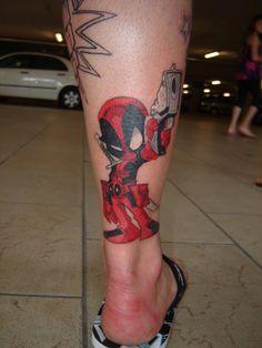 Deadpool Tattoo - http://99tattooideas.com/deadpool-tattoo/