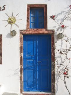 Santorini - door and window