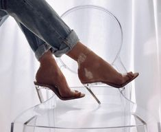 """ba04d618374 M A R G A R I T A Sh. on Instagram  """"I think only Kim Kardashian can  understand my passion for Perspex heels  lol New In by  publicdesire ..."""