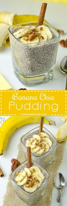 Healthy, Easy Breakfast Banana Chia Pudding - so tasty, simple and healthy enough to have it for breakfast! Amazingly delicious and super easy! This Healthy, Easy Breakfast Banana Chia Pudding is so easy to make and I am sure you will love it!