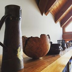 #northcarolina #pottery is some of the best and certainly most unique. Our #nc #mountaincabin the #aerie has a beautiful collection!  #preparation for new #guests!  #altezvacations #vacationrental #vacationgetaway #vacationmemories #artandsculpture #handmadeaccessories #mountainlodge #mountainescape #adventuretravel