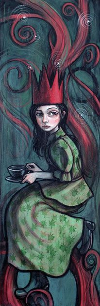 ✯ Tea and Vine :: Artist Kelly Vivanco✯ Cafe Art, Tea Art, Single Coffee Maker, I Love Coffee, Illustration Art, Book Illustrations, Street Art, Artsy, Sketches